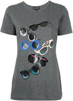 Emporio Armani sunglasses print T-shirt - women - Cotton/Spandex/Elastane - 38