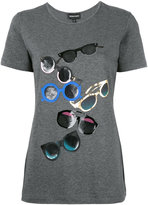 Emporio Armani sunglasses print T-shirt