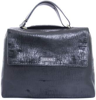 Orciani Black Leather Sveva Large Bag