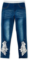 Flapdoodles Girls 4-6x) Embroidered Jeggings