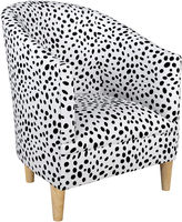Skyline Furniture Ashlee Barrel Chair, Black Dots