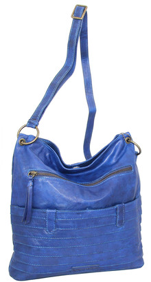 Nino Bossi Handbags Women's Crossbodies Denim - Denim Nieve Leather Crossbody Bag