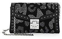 MCM Women's Small Millie Leopard Crystal Leather Crossbody Bag