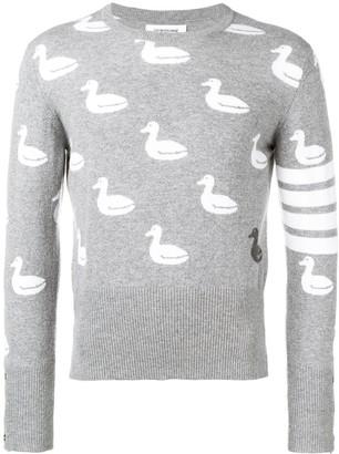 Thom Browne 4-bar Duck Intarsia Pullover