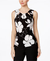 Tommy Hilfiger Floral-Print Cutout Shell