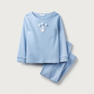 The White Company Penguin Pom-Pom Pyjamas (1-12yrs), Blue, 1-1 1/2yrs