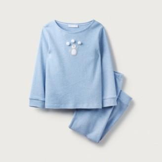 The White Company Penguin Pom-Pom Pyjamas (1-12yrs), Blue, 7-8yrs