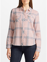 Collection WEEKEND by John Lewis Jessa Check Shirt, Pink/Ivory