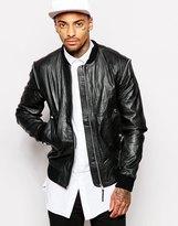 Religion Leather Jacket - Black