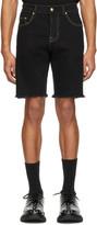 Versace Black Denim Icon Shorts
