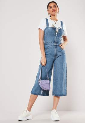 Missguided Tall Blue Denim Culotte Jumpsuit