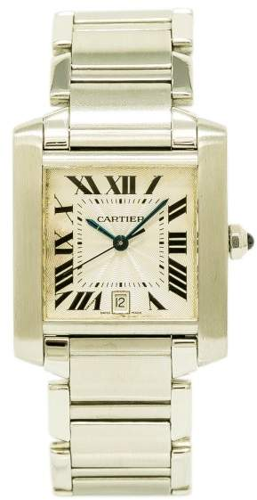 Cartier Tank Francaise 2302 Stainless Steel with Silver Dial 28mm Womens Watch