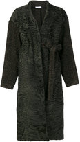 Inès & Marèchal Benoit coat - women - Silk/Sheep Skin/Shearling/Polyamide/Alpaca - 36