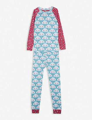 Hatley Cheery cloud-print cotton pyjama set 2-10 years