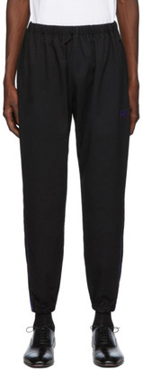 Needles Black and Purple Dry Side Line Lounge Pants