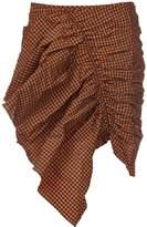 Marques Almeida Marques'almeida Ruffle Checkered Skirt