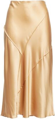 Vince Silk-satin Midi Skirt