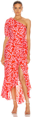 Veronica Beard Vie Dress in Poppy Multi | FWRD