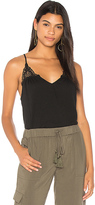 Michael Stars Luxe Crochet Cami in Black.