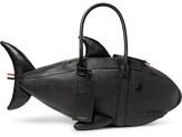 Thom Browne Shark Pebble-grain Leather Tote Bag