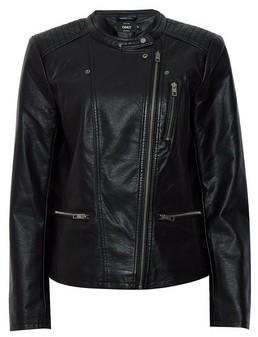 Dorothy Perkins Womens Only Black Pu Biker Jacket, Black