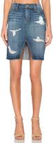 Joe's Jeans Kumi Collector's Edition Cut Off Slit Pencil Skirt