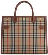 Burberry LG TITLE VINTAGE CHECK TOP HANDLE BAG