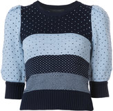 Marc Jacobs striped polka dot knitted top - women - Cotton - S