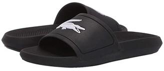 Lacoste Croco Slide 119 3 (Black/Whte) Women's Shoes
