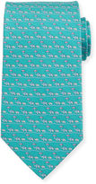 Salvatore Ferragamo Elephants & Umbrellas Silk Tie