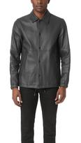 Theory Kelleher Leather Coach Jacket