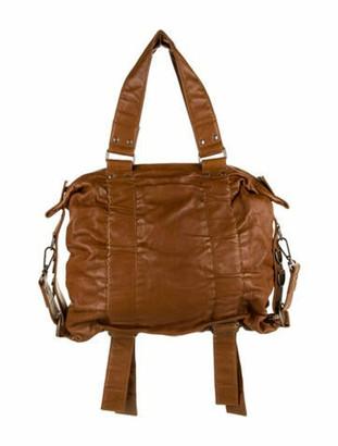 Dries Van Noten Leather Tote Bag Brown