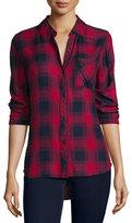 Rails Hunter Plaid Long-Sleeve Shirt, Midnight/Garnet