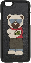 Furla bear patch iPhone 6 case - men - Leather - One Size