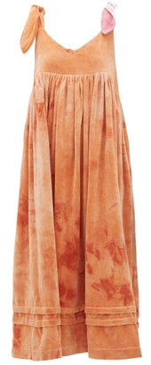 Story mfg. Daisy Tie-dye Cotton-velvet Dress - Pink