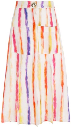 Nicholas Tie Dye Mid-Length Skirt