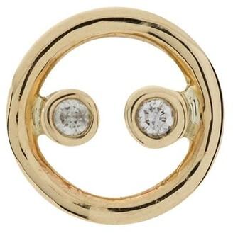 Anissa Kermiche 9K yellow gold diamond single earring