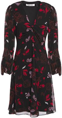 Diane von Furstenberg Kayla Twisted Printed Chiffon Dress