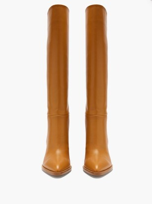 Gianvito Rossi Kerolyn 85 Leather Knee-high Boots - Tan