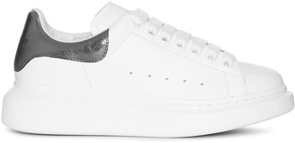 Alexander McQueen White and black pearl classic sneakers