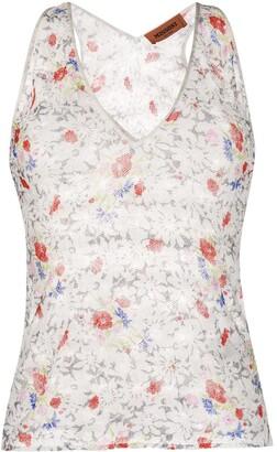 Missoni Floral Knit Tank Top