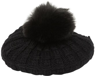 Kyi Kyi Faux Fur Cable Knit Beret