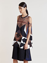 Givenchy Women's Cut-Out Patterned T-Shirt