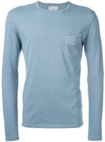 Officine Generale long sleeved pocket tee - men - Cotton - S
