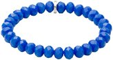 Pilgrim Pilgrim...Blue Hexagonal Glass Beaded Bracelet...Elasticated Fit