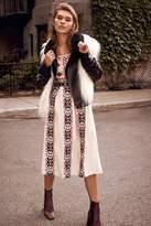 Ecote Emilia Embroidered Pleated Midi Dress
