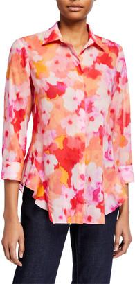 Finley Agetha Watercolor Button-Down Shirt