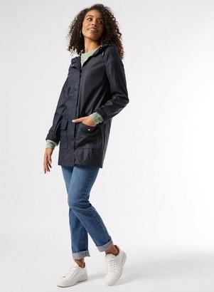 Dorothy Perkins Womens Dp Tall Navy Pu Raincoat, Navy