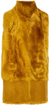 Karl Donoghue Faux Fur And Suede Gilet