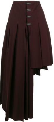 Romeo Gigli Pre Owned asymmetric draped skirt